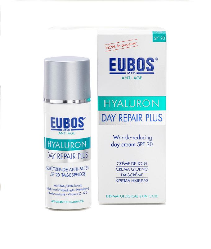 Eubos Hyaluron Day Repair Plus SPF20 Αντιρυτιδική Κρέμα Ημέρας, 50ml