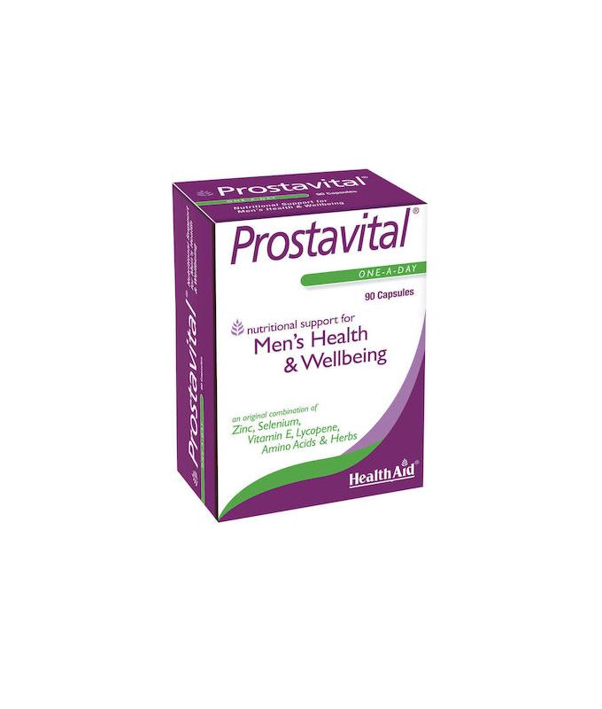 Health Aid - Prostavital Φυτικός Συνδυασμός με Βιταμίνες, Μέταλλα και Αμινοξέα για τον Προστάτη 90caps