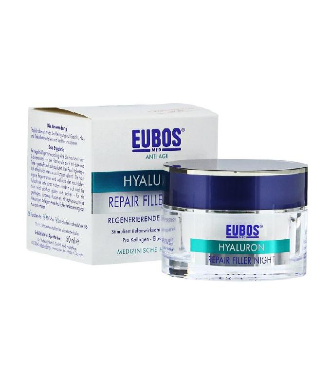 Eubos Hyaluron Repair Filler Night Κρέμα Νύχτας με Υαλουρονικό Οξύ, 50ml