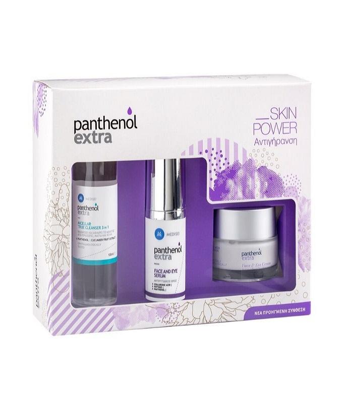 Panthenol Extra Promo Face & Eye Serum Αντιρυτιδικός Ορός Προσώπου & Ματιών, 30ml & ΔΩΡΟ Micellar True Cleanser 3 in 1 Καθαριστική Λοσιόν Προσώπου & Ματιών, 100ml & Face & Eye Crea