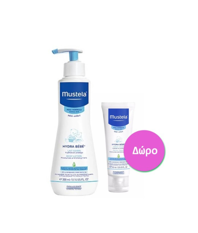 MUSTELA HYDRA LOTION 300ml & FACIAL CREAM 40ml