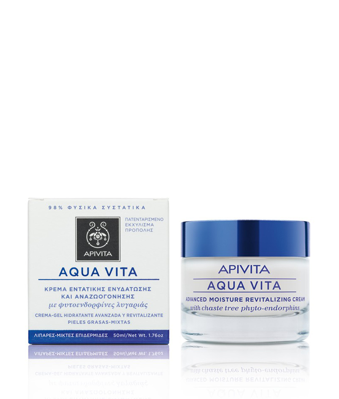 APIVITA AQUA VITA CREAM-GEL ΛΙΠΑΡΑ-ΜΙΚΤΑ 50ML