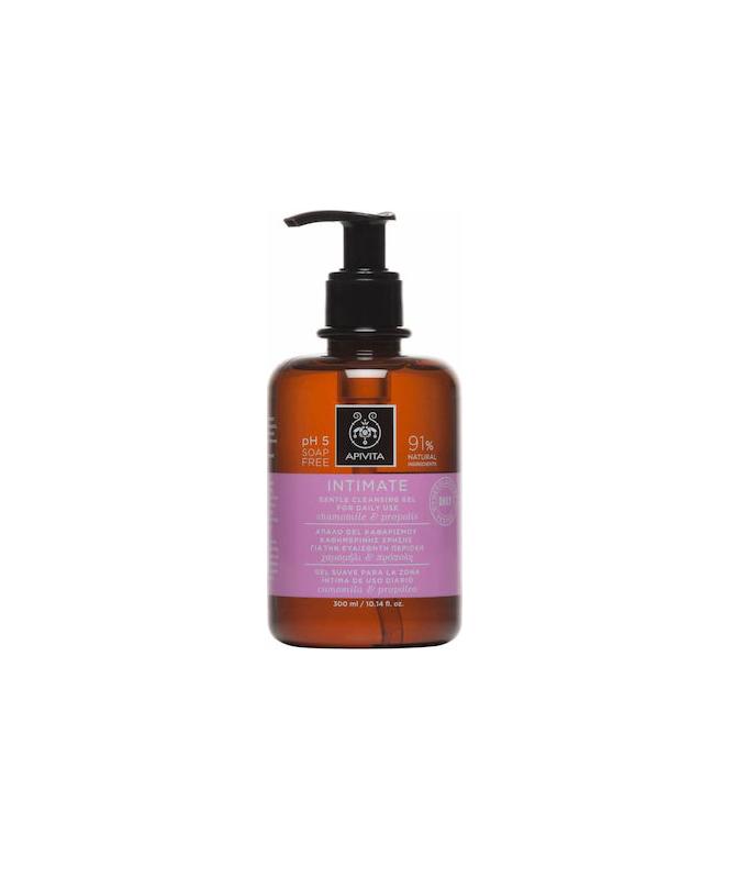 Apivita Intimate Daily Απαλό gel Καθαρισμού της Ευαίσθητης Περιοχής με Χαμομήλι & Πρόπολη 300ml