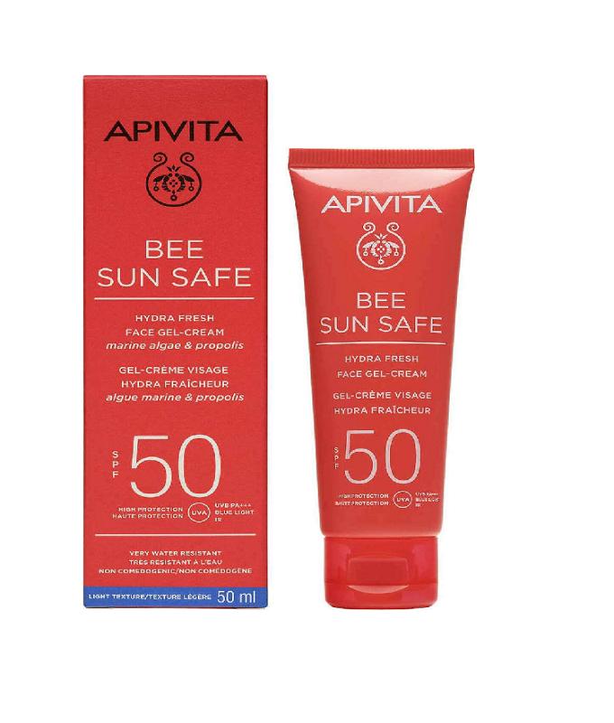 Apivita Bee Sun Safe Hydra Fresh Face SPF50 Ενυδατική Αντηλιακή Κρέμα Gel Προσώπου Ελαφριάς Υφής 50ml