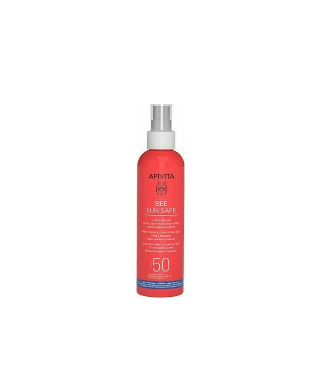 Apivita Bee Sun Safe Ενυδατικό Spray Ελαφριάς Υφής για Πρόσωπο & Σώμα SPF50 200ml