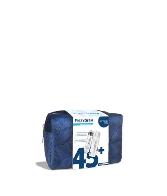 Frezyderm Skin Essentials Promo Moisturizing Rich Cream Ενυδατική Κρέμα (45+) 50ml & Mild Wash Foam Αφρός Καθαρισμού 150ml