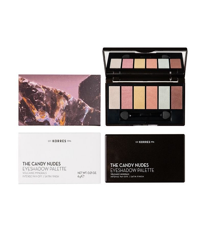 Korres Volcanic Minerals The Candy Nudes Eyeshadow Palette Παλέτα Σκιών