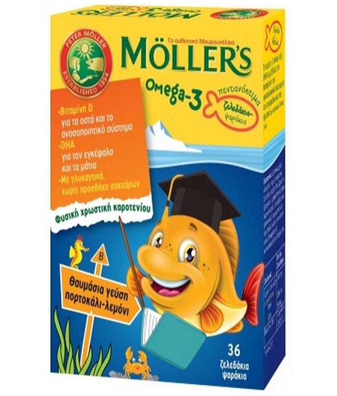 MOLLER'S για Παιδιά με γεύση Πορτοκάλι-Λεμόνι 36 ζελεδάκια