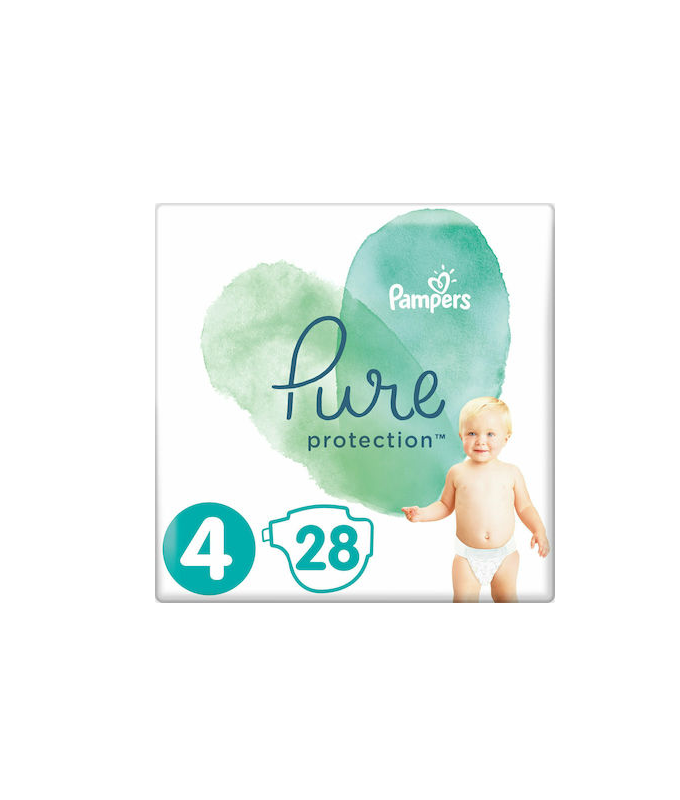 Pampers Pure Protection No 5 (11+kg) Βρεφικές Πάνες 24τμχ