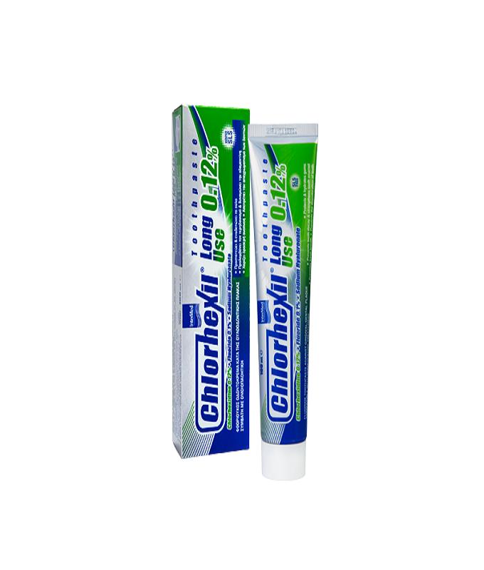 Intermed Chlorhexil 0,12% Toothpaste Long Use Φθοριούχος Οδοντόκρεμα Κατα της Ουλοοδοντικής Πλάκας, 100ml