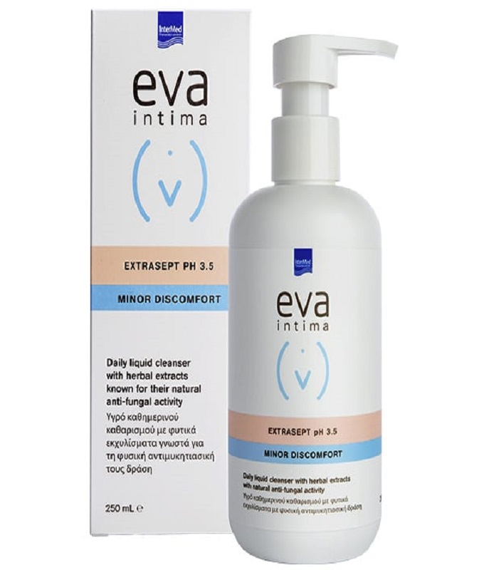 Intermed Eva Intima Extrasept Υγρό Καθημερινού Καθαρισμού Ευαίσθητης Περιοχής με Φυσική Αντιμυκητιασική Προστασία, 250ml