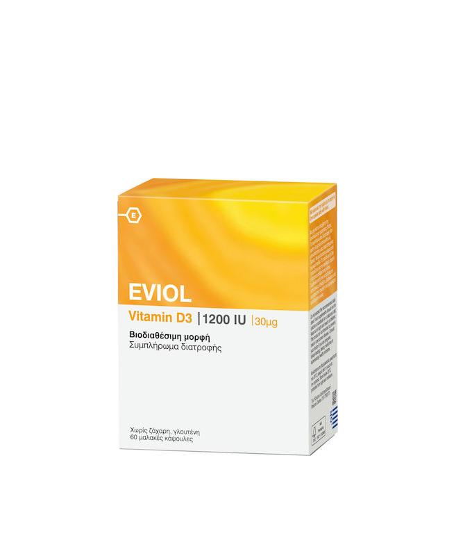 Eviol Vitamin D3 1200iu 30mcg 60 μαλακές κάψουλες