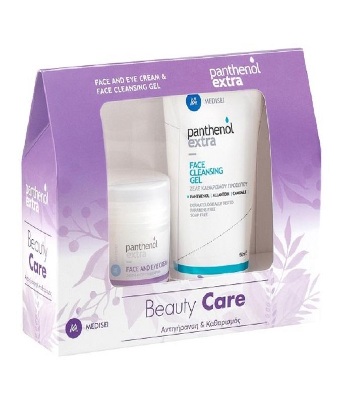 Panthenol Extra Promo Beauty Care Face & Eye Cream 50ml & Face Cleansing Gel Ζελέ Καθαρισμού Προσώπου 150ml.