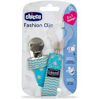 Chicco Pacifier Fashion Clip Κλιπ Πιπίλας σε Σιελ Χρώμα, 1 τεμάχιο