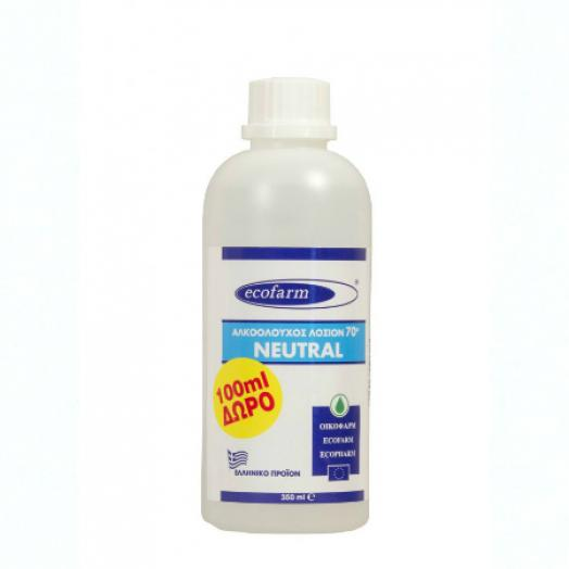 ECOFARM αλκοολούχος λοσιόν 70 βαθμών 350ml
