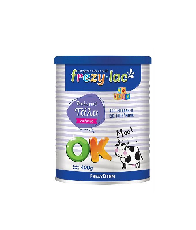 FREZYLAC OK, Βιολογικό Γάλα σε Σκόνη έως τον 6ο Μήνα - 400gr