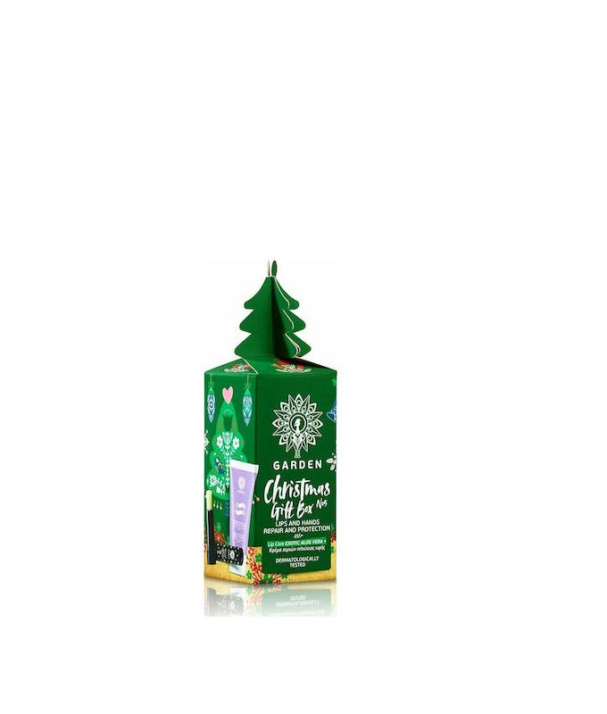 Garden Christmas Gift Box No5 Lip Care Aloe Vera & Kρέμα Χεριών Πλούσιας Υφής 30ml