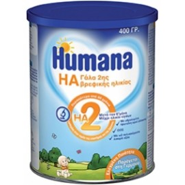 Humana HA 2 Υποαλλεργικό γάλα 2ης βρεφικής ηλικίας 400gr