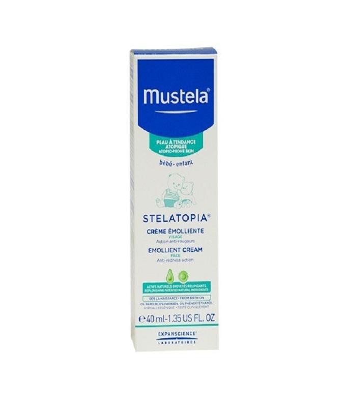 Mustela Stelatopia Emollient Face Cream Κρέμα Προσώπου, 40ml