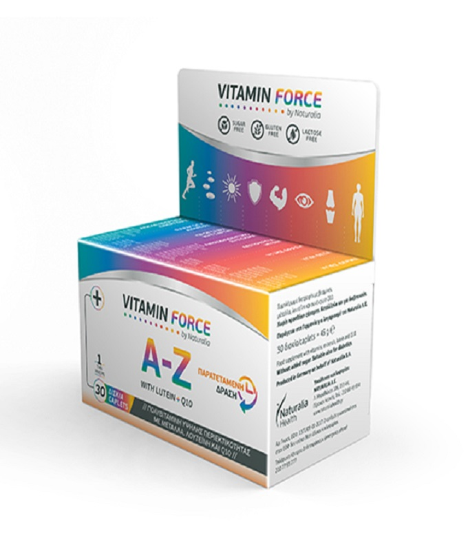 Vitamin Force Α to Z with Lutein +Q10
