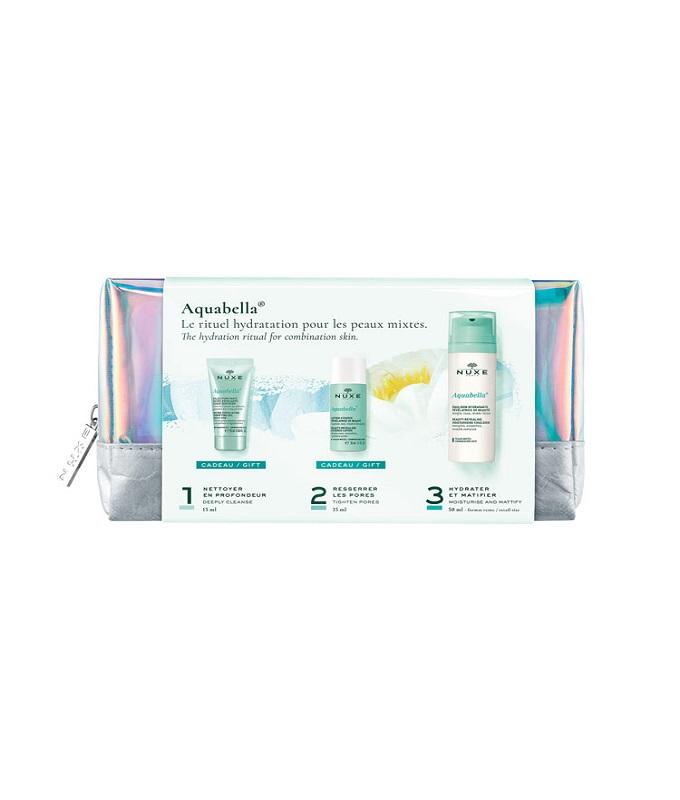 Nuxe Promo Aquabella Moisturizing Emulsion 50ml & ΔΩΡΟ Micro-Exfoliating Purifying Gel 15ml & Aquabella Lotion 35ml