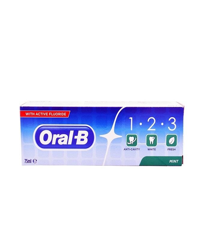 Oral B 1-2-3 Fresh Mint Οδοντόκρεμα με γεύση μέντα, 75ml