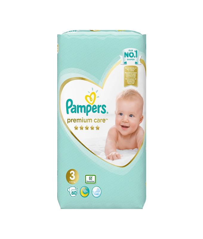 Pampers Premium Care No 3 (6-10kg) 60τμχ