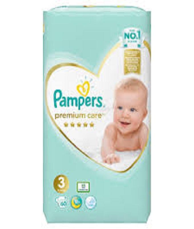 PAMPERS PREMIUM CARE N3 60TMX