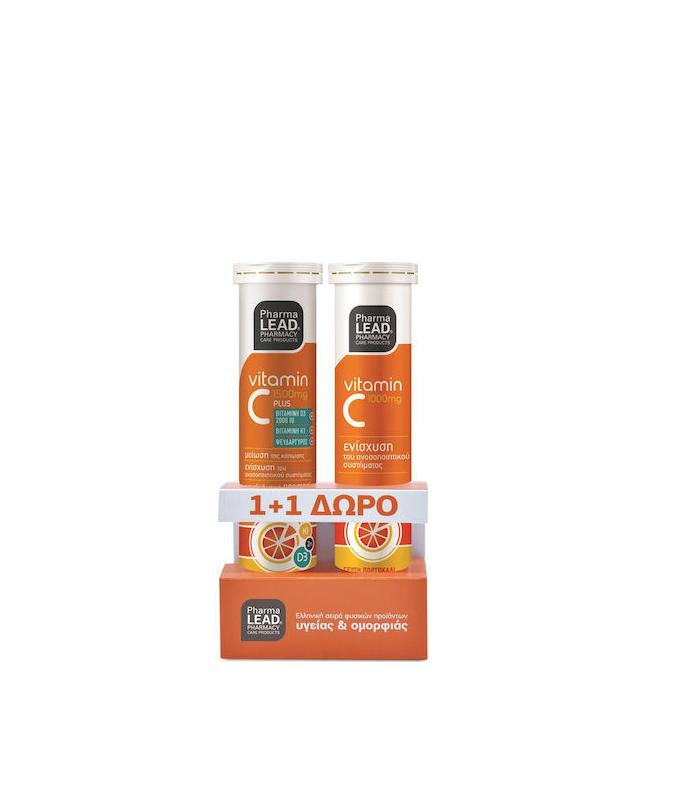 Pharmalead Vitamin C Plus Πορτοκάλι 1500mg 20 αναβράζοντα δισκία & Vitamin C 1000mg 20 αναβράζοντα δισκία
