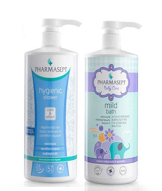 PHARMASEPT PROMO BABY MILD BATH 1000ML & HYGIENIC SHOWER 1000ML