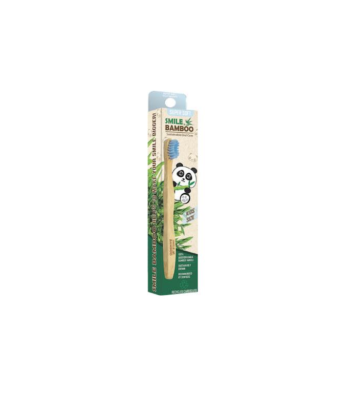 Bamboo Smiles Παιδική Οδοντόβουρτσα Super Soft Light Blue