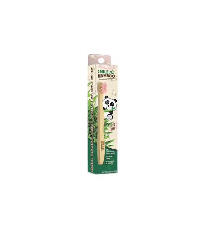 Bamboo Smiles Παιδική Οδοντόβουρτσα Super Soft Light Pink