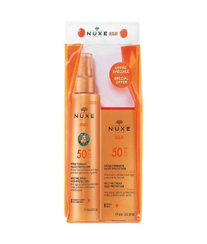 Nuxe Sun Set Με Αντηλιακό Spray Προσώπου/Σώματος Spf50 150ml & Αντηλιακή Κρέμα Προσώπου 50ml
