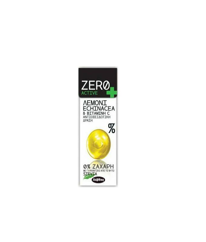 Zero Active Καραμέλες Λεμόνι Echinacea & Βιταμίνη C, Για Αντιοξειδωτική Δράση Με Stevia 32gr