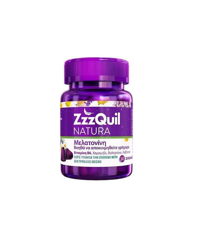 ZzzQuil Natura Συπλήρωμα Διατροφής με Μελατονίνη 30 ζελεδάκια